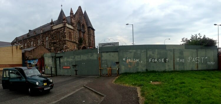 Divide Between the Catholic and Protestant Sides of Belfast