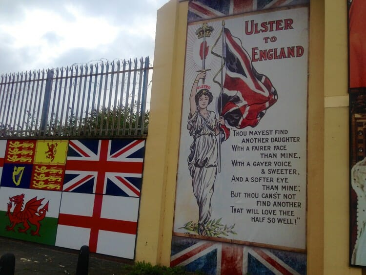 Loyalist/Protestant side of Belfast