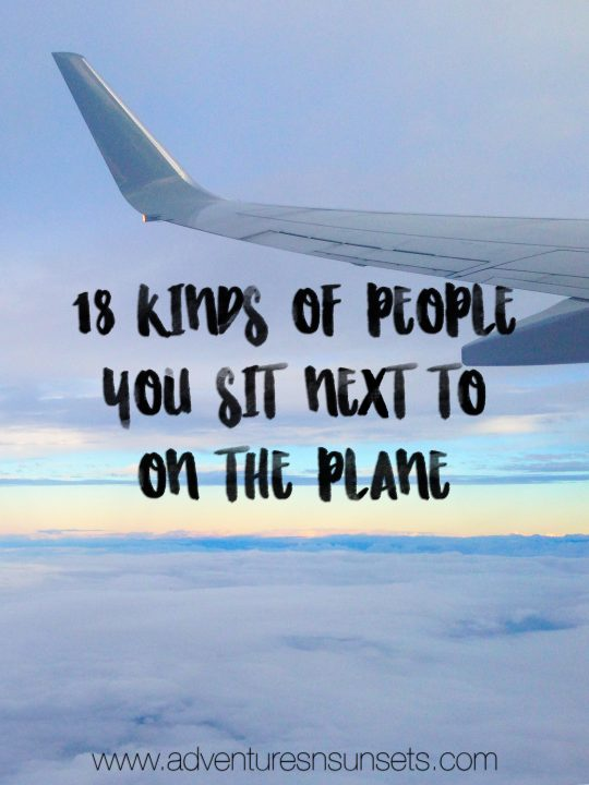 18 Different types of people you sit next to on the plane, that ANY avid traveler would recognize. From the snorer or the high maintenance nightmare to the high school sports team and helpless new mother, see how many of these you can relate to!