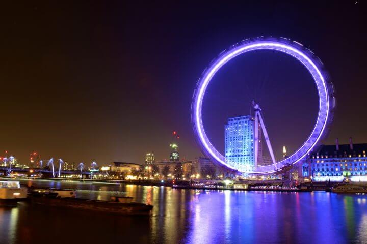 making friends in london as a solo expat london eye at night