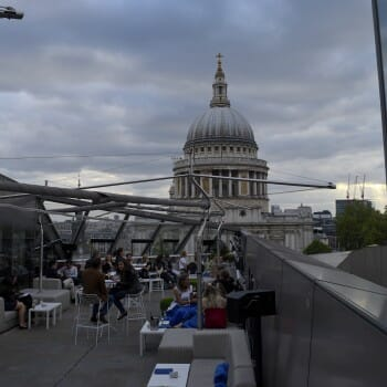 A Day in the London Life - rooftops bard, landmarks, speakeasies, markets, breakfast cafe's ,and views. St Paul's Cathedral View Madison rooftop bar