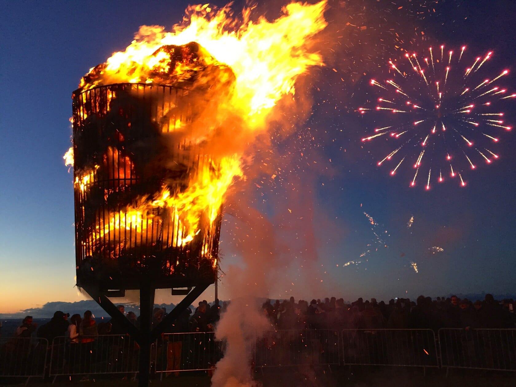 Cotswold Olimpicks Dover games england fireworks