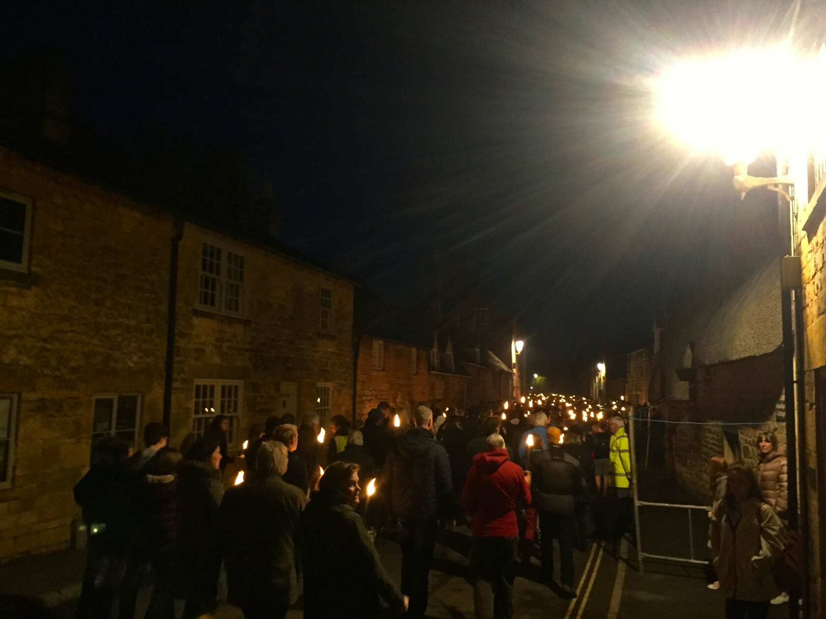 Cotswold Olimpicks Dover games england torch procession