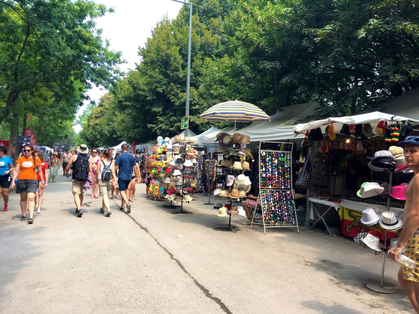 sziget review + festival guide for sziget festival in budapest august market stalls