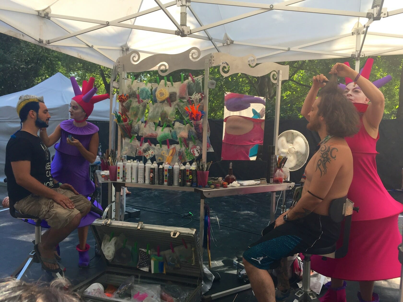 sziget review + festival guide for sziget festival in budapest august hair styling mobile cart
