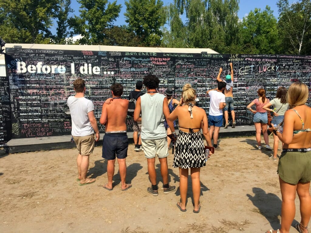 sziget review + festival guide for sziget festival in budapest august before I die wall