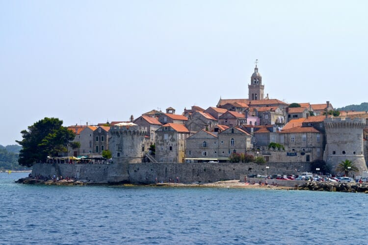 Mini-Dubrovnik A tour guide's guide to Korčula old town walls walled town of Korcula, Croatia home of Marco Polo