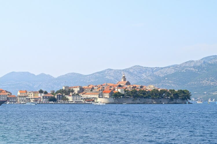 Mini-Dubrovnik A tour guide's guide to Korčula old town walls walled town of Korcula, Croatia