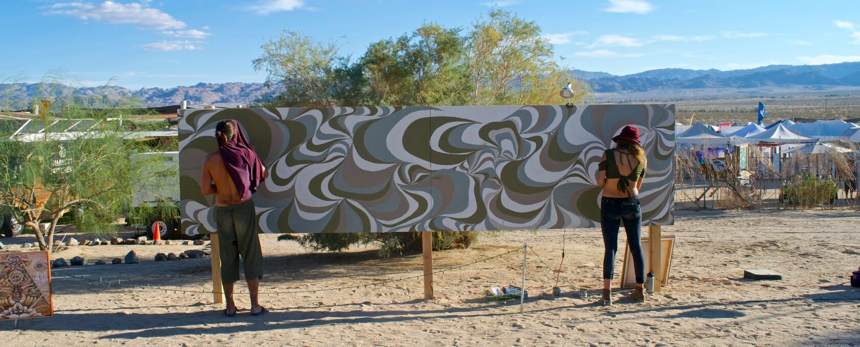 Joshua Tree Music Festival Guide + Review painting artists