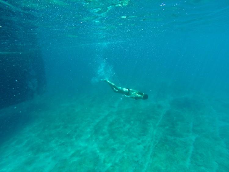 swiming in croatia go pro
