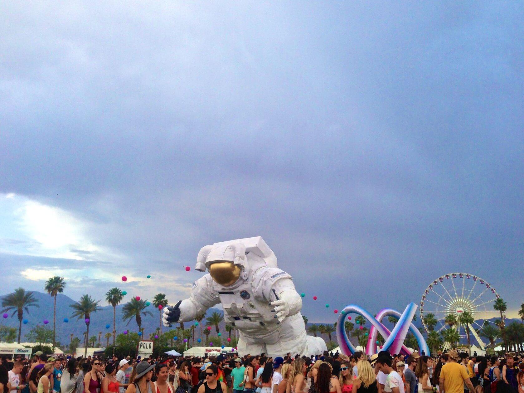 coachella music festival astronaut