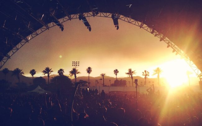 coachella music festival sahara tent sunset
