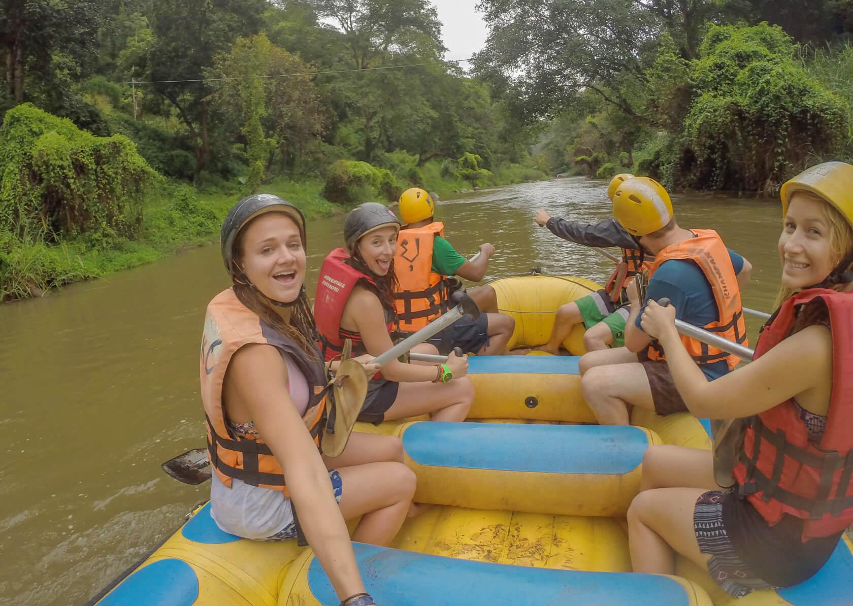 Chiang Mai elephant tour river rafting thailand