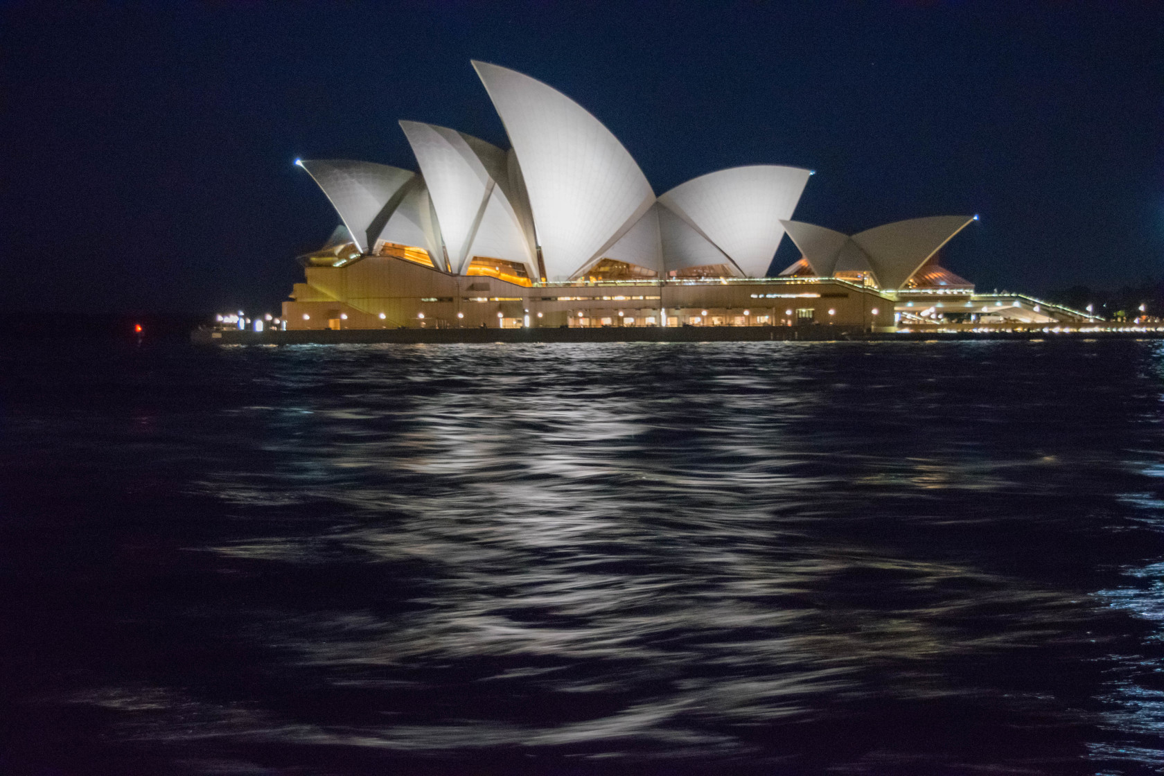 Opera House From water night motion