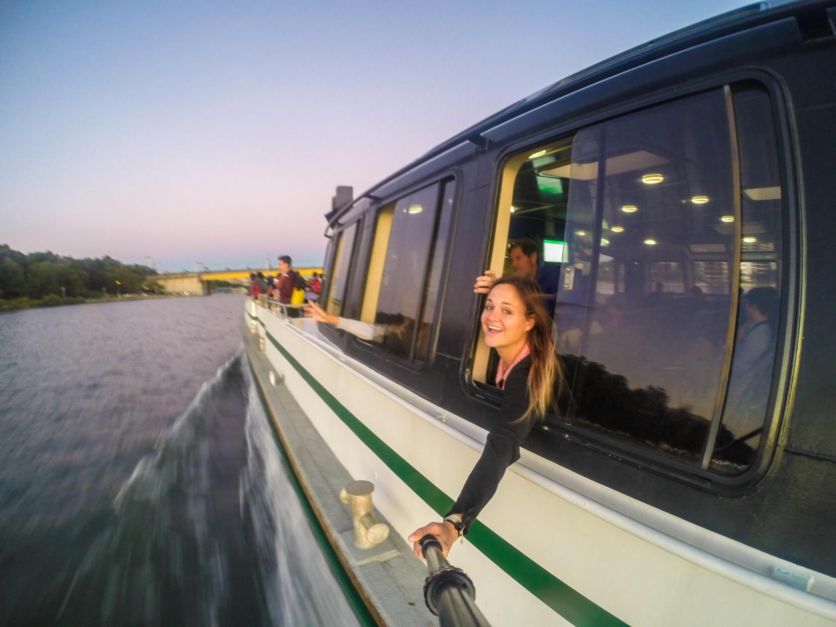 Go Pro Boat Selfie in Motion Sydney