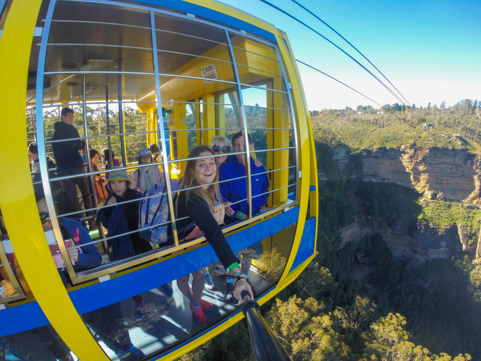 Scenic World Blue Mountains Cable Car go pro