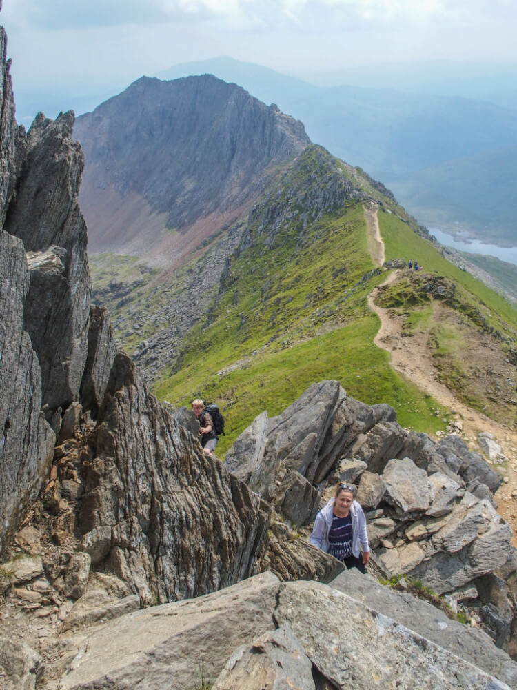 climbing mount snowdon hard routes paths rocky