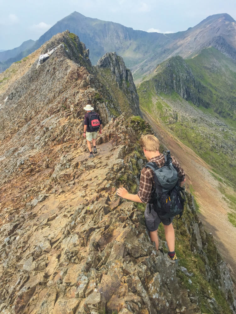 dangerous climbing mount snowdon north wales sheer cliff crib goch