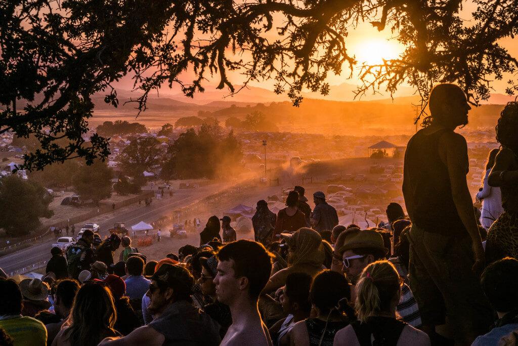 Lightning in a Bottle Festival Guide meditation lookout sunset