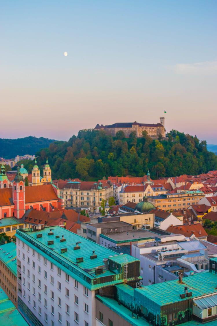 Sunset Ljubljana Guide Slovenia