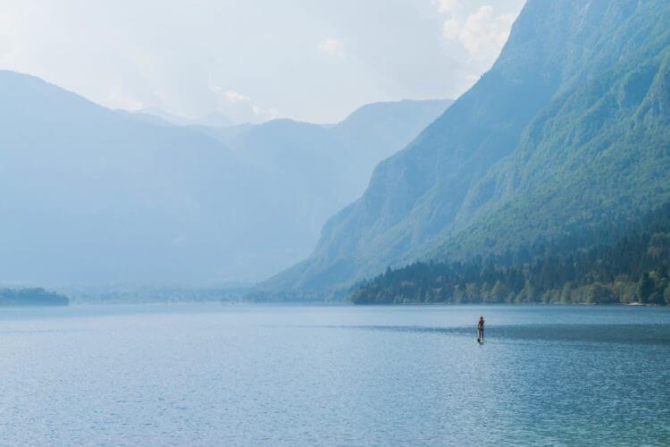 SUP Lake Bohinj Slovenia