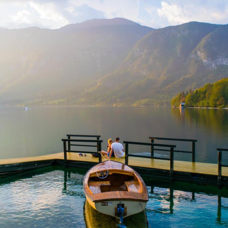 slovenia travel guide lake bohinj sunset spots couples travel