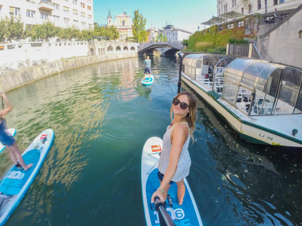 Bananaway SUP Tour Ljubljana Ljubljanica River