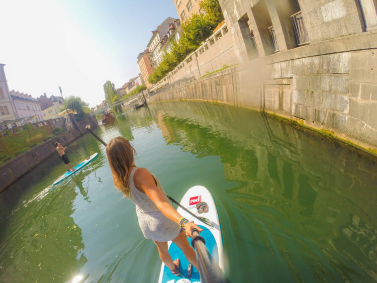 SUP tour ljubljana slovenia travel guide bananaway