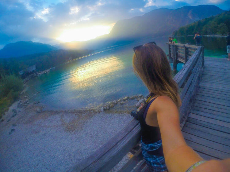lake bohinj sunset slovenia travel guide