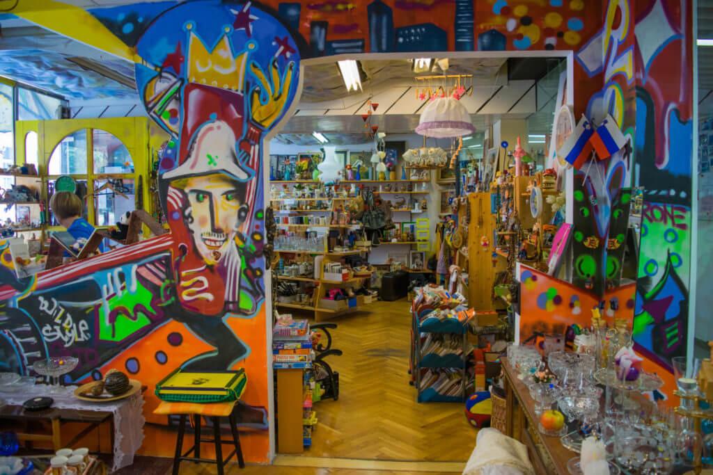 Thrift Shop Ljubljana CurioCity Tour Slovenia travel guide