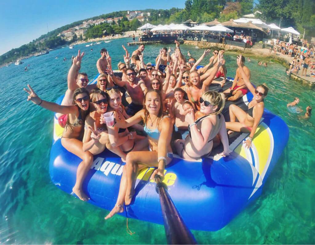organized group travel tour guide to hvar hula hula go pro croatia