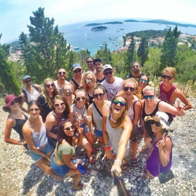 Go Pro Sandmarc Selfie Sailing Croatia Hvar guide to hvar