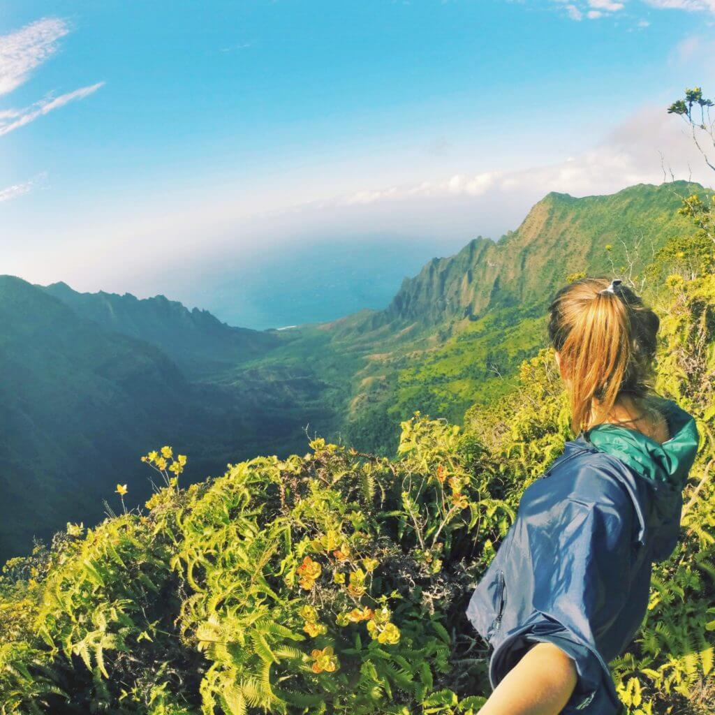 Na Pali Coast Overlook Pihea Trail kauai adventure guide