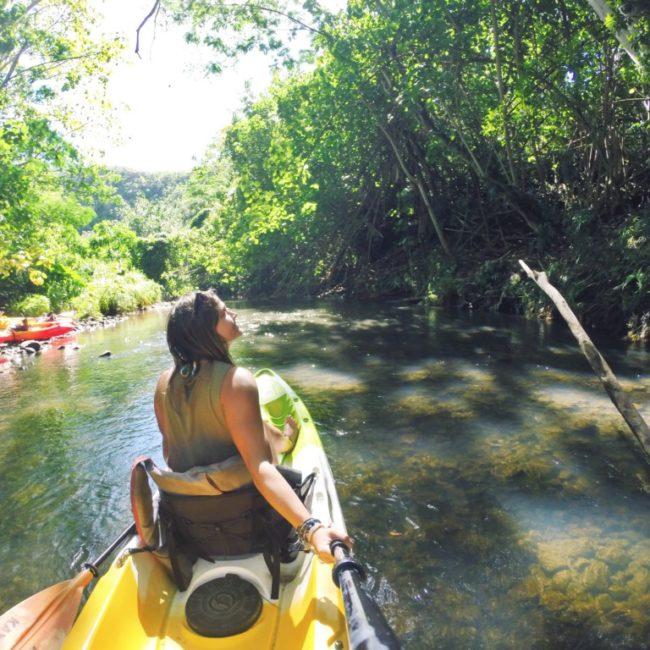 Kayak wailua river kauai