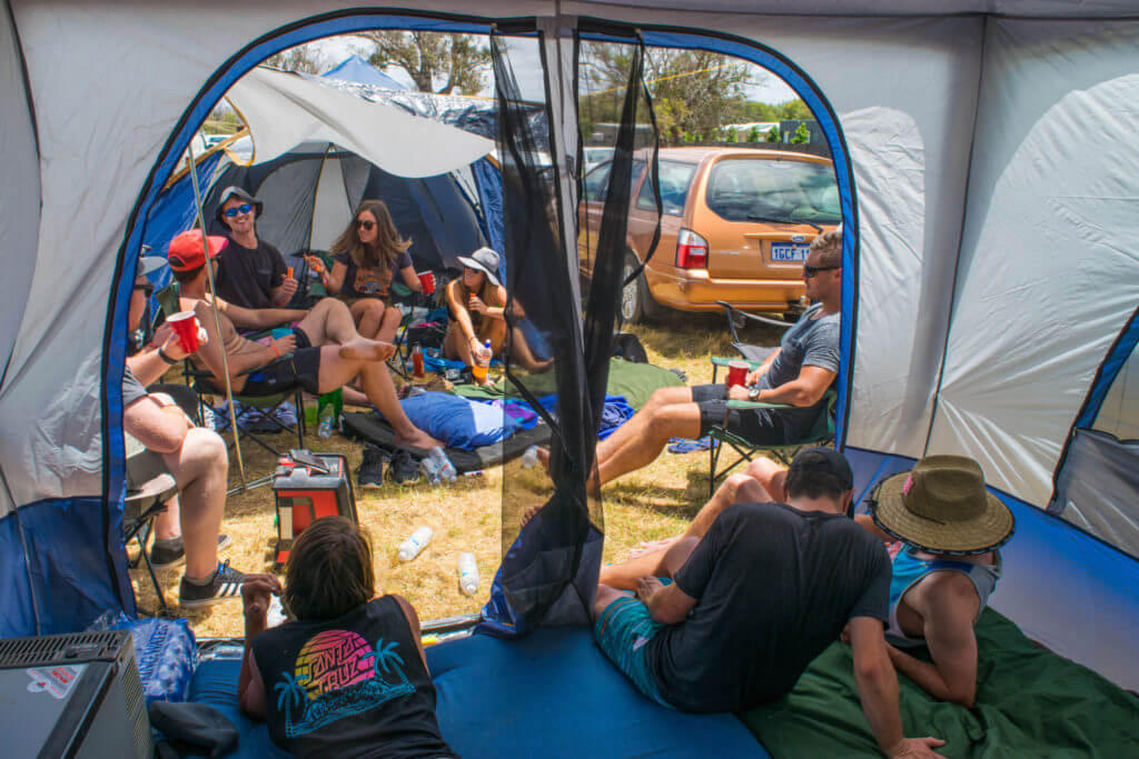 camping at southbound