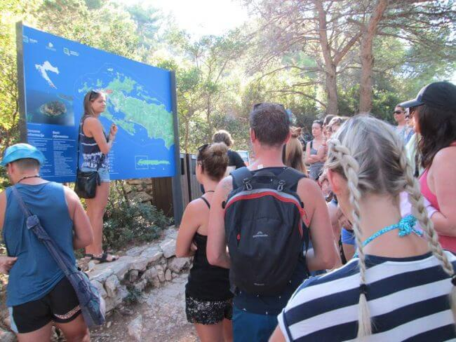 tour guide history lesson mljet croatia