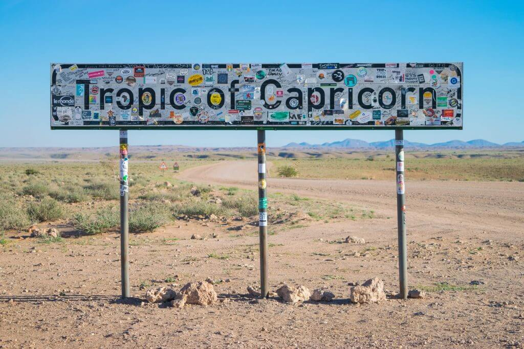 namibian road trip tropic of Capricorn