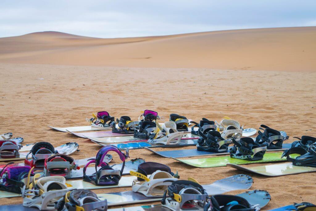 sandboarding in namibia snowboards