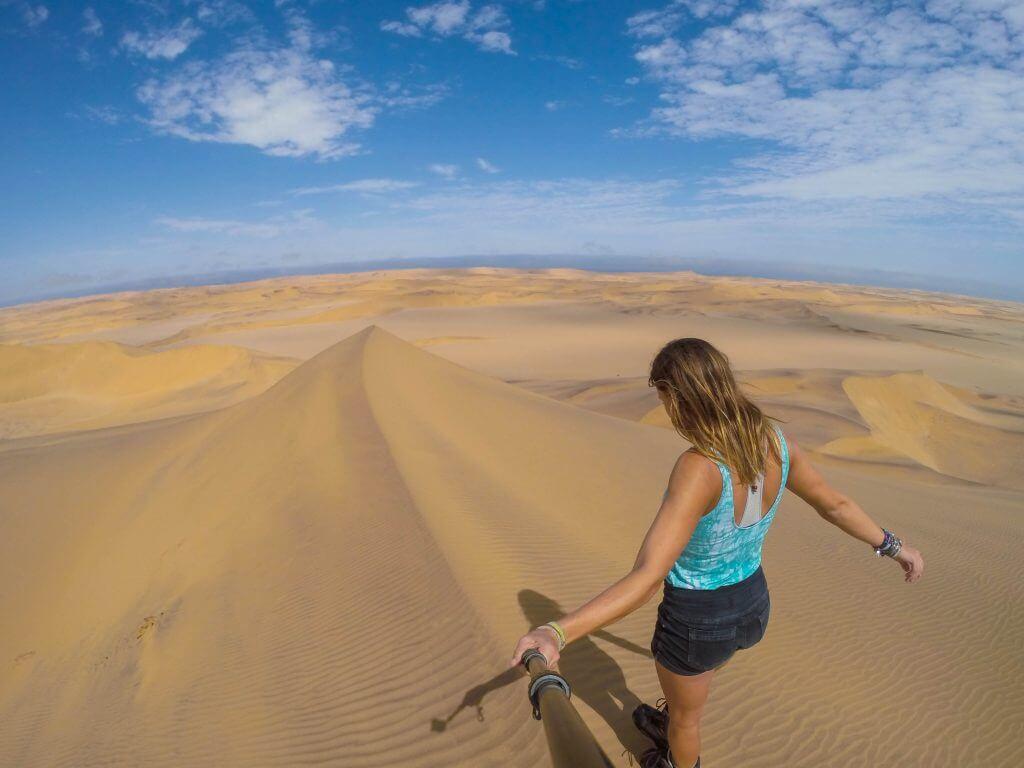 sandboarding in namibia go pro alter action sandboarding