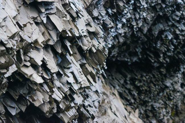 saving money in iceland basalt formations