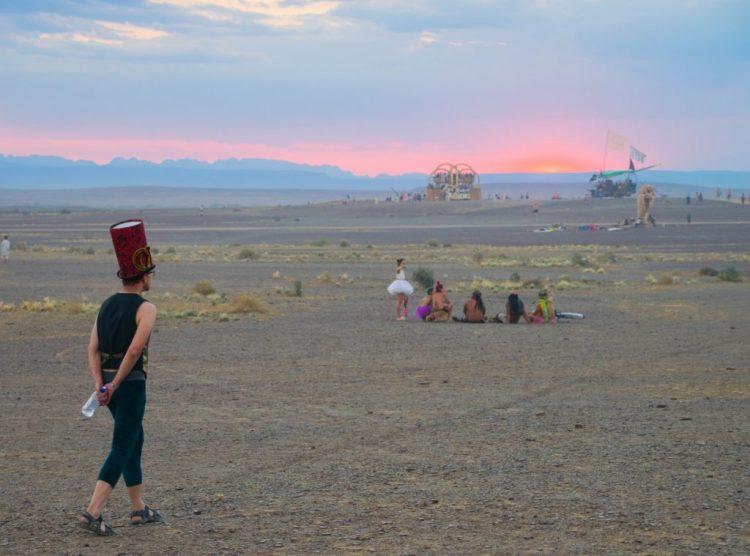 Afrikaburn 2017 spirit train sunset
