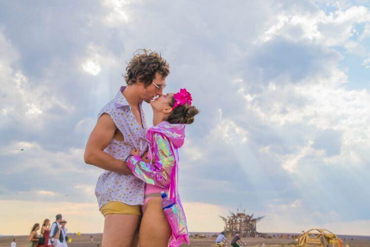 Afrikaburn 2017 sunset burner couple