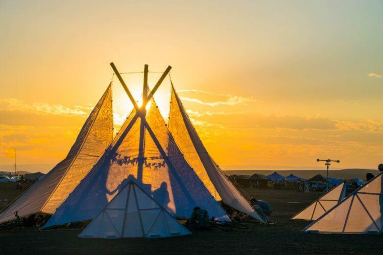 Afrikaburn 2017 sunset dress