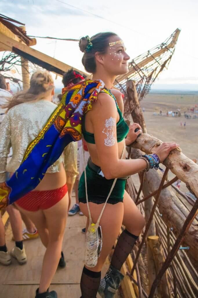 Afrikaburn 2017 sunset burner girls