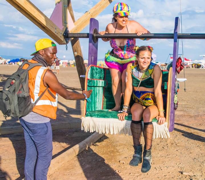 Afrikaburn 2017 ferris wheel burner girls
