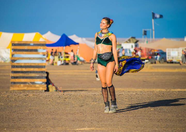 Afrikaburn 2017 sahara desert warrior princess
