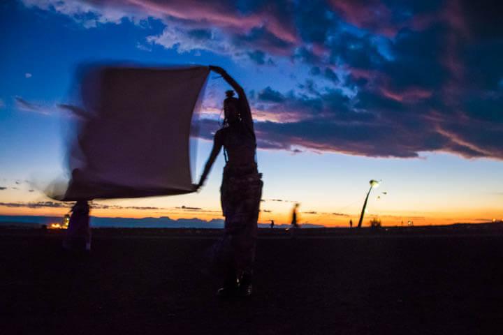 Afrikaburn 2017 sunset spirit train