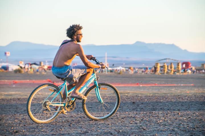 Afrikaburn 2017 sunset bike