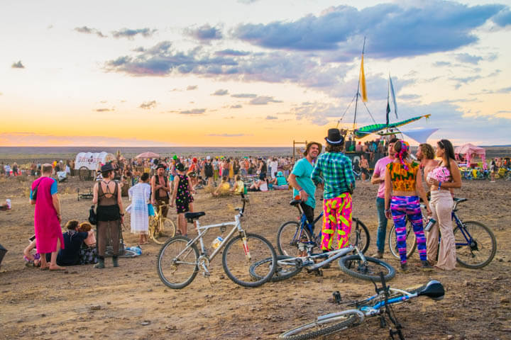 Afrikaburn 2017 sunset portrait