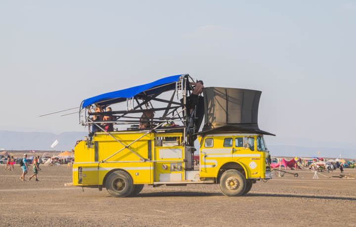 Afrikaburn 2017 tophat truck